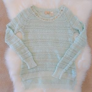 Daytrip Sweaters - Daytrip pastel mint blue light-weight sweater